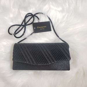 D'margeaux New York Black club clutch evening bag